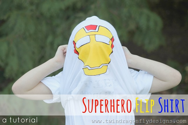 Superhero Flip Shirt Title