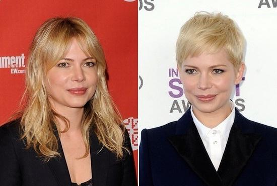 Michelle Williams short haircut pixie