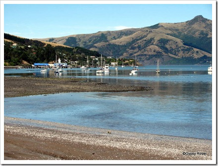 Akaroa Harbour  at low tide.