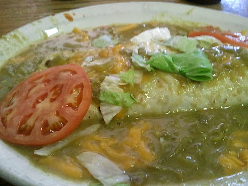 Green Chile Breakfast Burrito at the Durango Diner