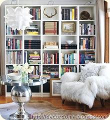 Идеи декора полок для книг своими руками