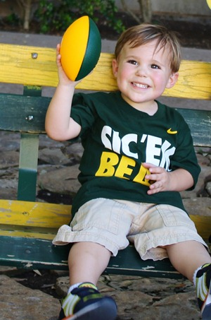 Nash's 1st day of School & Baylor Game 021
