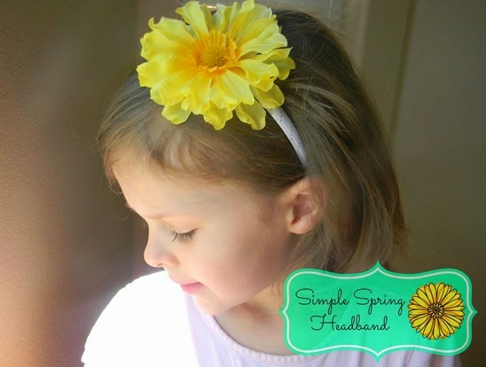 simple spring headband