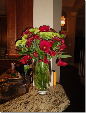 7.  Flowers from Laura