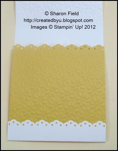 daffodil delight card stock is punched with eyelet border punch too