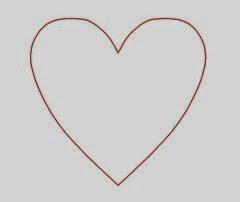 Molde patrón corazón
