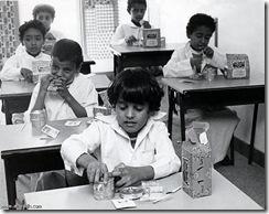 التغذية المدرسية في الثمانينات والتسعينات