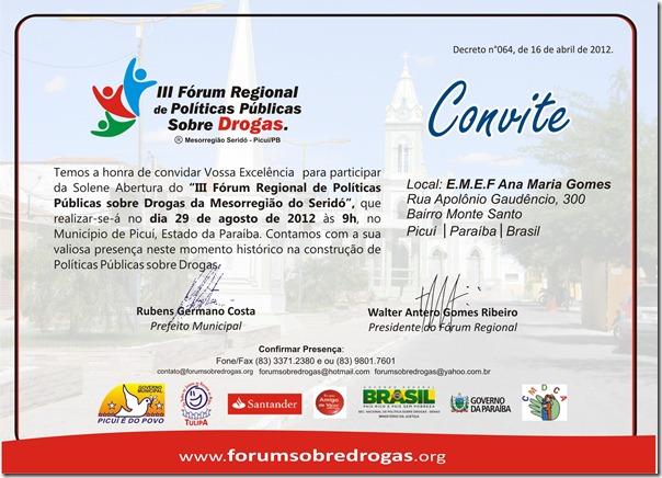 Convite Forum Regional