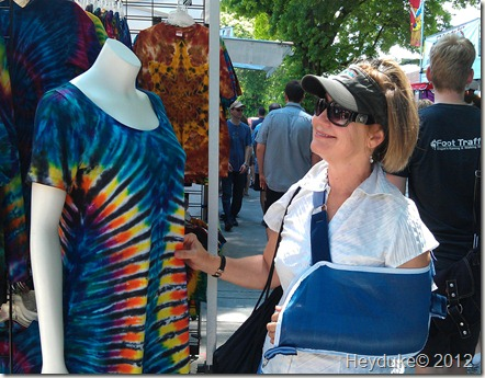 Portland Saturday Market tie die
