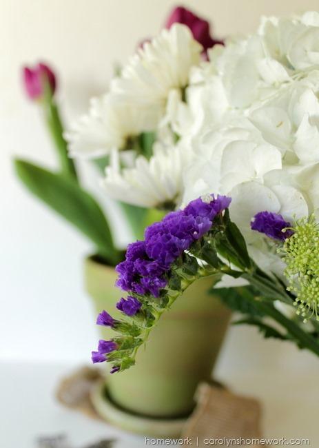 Spring Flowers inspired by Radiant Orchid via homework | carolynshomework.com