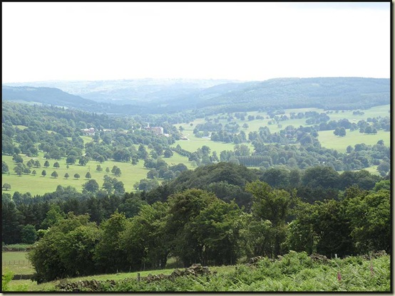 Chatsworth from above Baslow