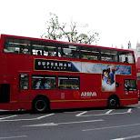 red double decker bus in london in London, London City of, United Kingdom