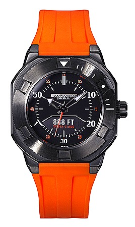 Shanghai Tang Scuba Class 888 Watch in Gun Metal and Orange