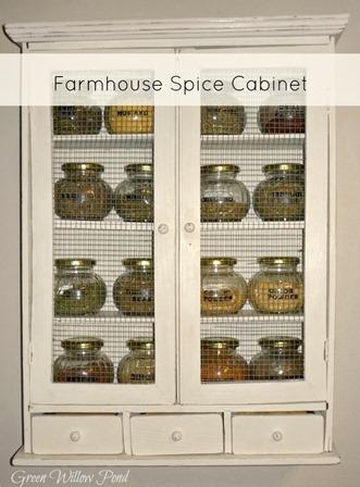 farmhouse spice cabinet