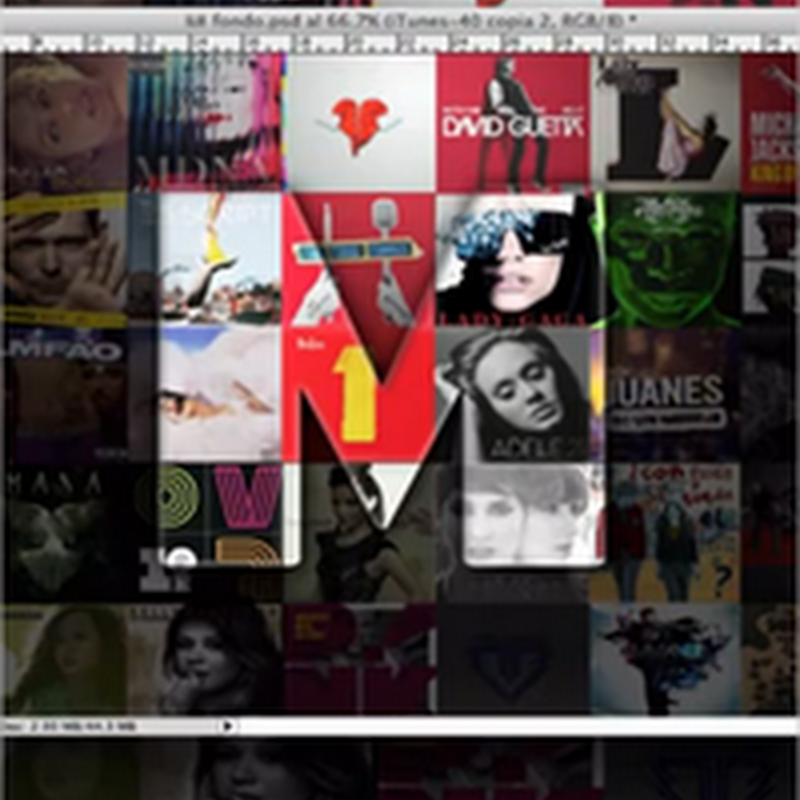 Crear un wallpaper de collage de portadas de discos en Photoshop