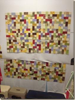 6 rows sewn