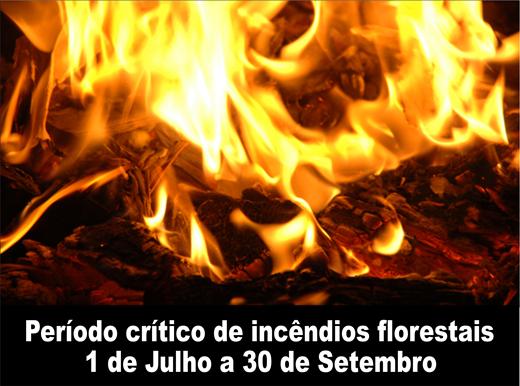 Periodo critico de incendios florestais (B)