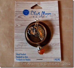 Blue Moon Wood Pendant