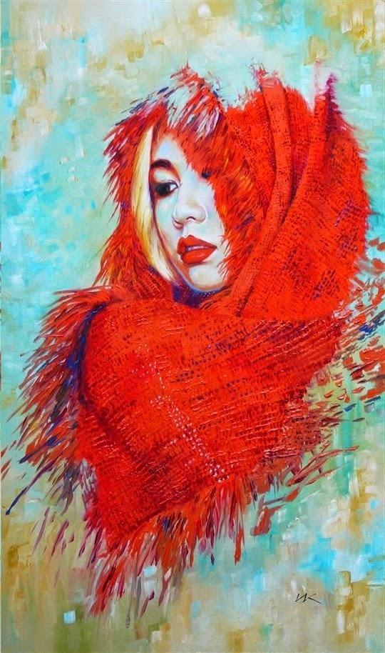 Женские портреты Влодзимеж Куклински (24 фото) | Картинка №13