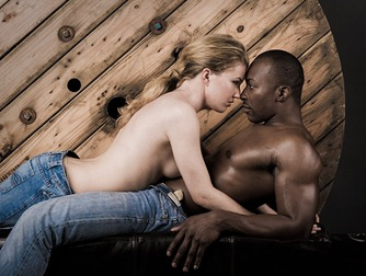 Black man white woman erotic