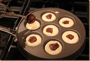 Nutella bleskivers/Ebelskivers