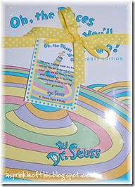 Dr. Seuss keepsake gift {A Sprinkle of This . . . . A Dash of That}