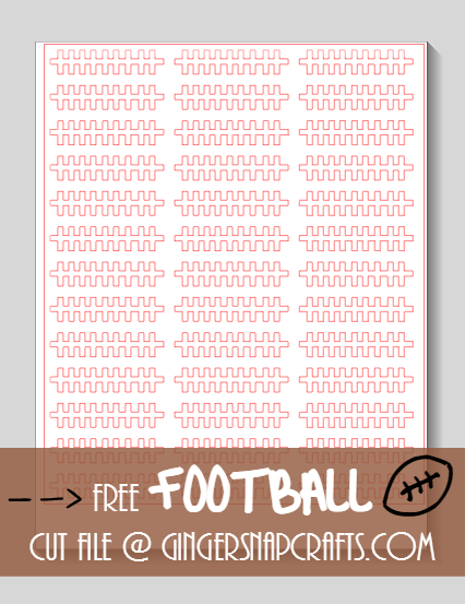 Silhouette Football Cut File at GingerSnapCrafts