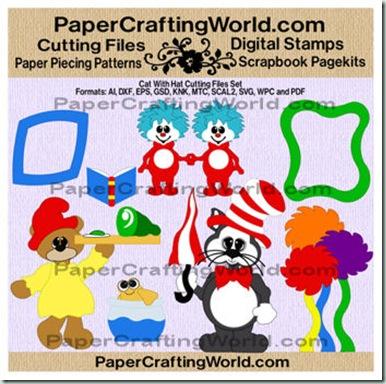 cat w hat set papered-cf-350