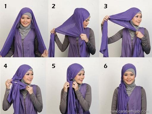 Cara Memakai hijab Untuk Wajah Bulat