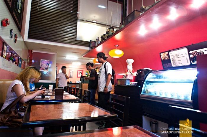 Inside Big Joe's Cafe
