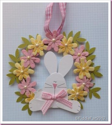 Small paper Bliss Bunny Easter Wreath