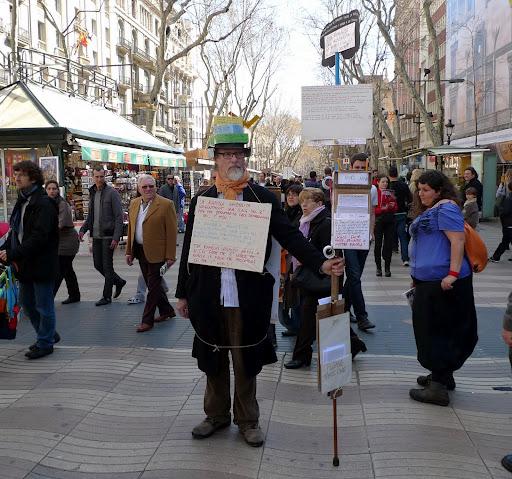 El predicador de carrer Clive Booth abandona la Rambla i se'n va a la Ciutadella #BCN