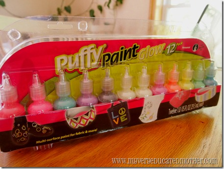 @mvemother Puffy Paint Glow 12 pack #iLoveToCreate