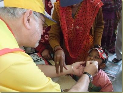 Administering vaccine