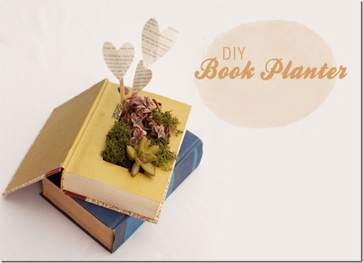 Louisville Wedding Decor - DIY Book Planter by Green Wedding Shoes (2)