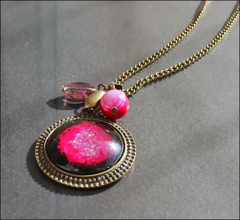 Vintage Kette Pink Galaxy 2