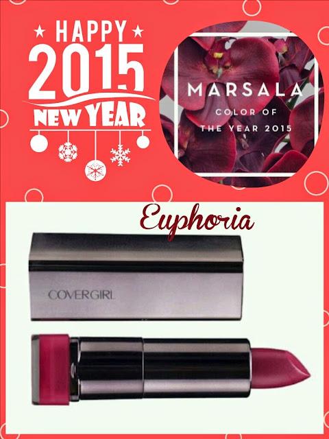 Couleur de l'année: Marsala + couleur de rouge à lèvres Cover Girl #MamanPG