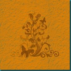 concrete butterfly orange