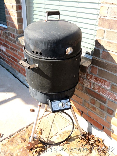 high heat rustoleum spray paint to restore bbq grill smoker 1