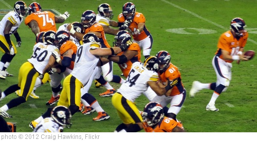 'Manning Handoff, Broncos vs Steelers 2012' photo (c) 2012, Craig Hawkins - license: http://creativecommons.org/licenses/by-nd/2.0/