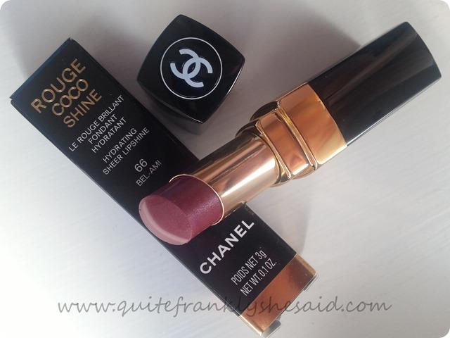 Chanel Rouge Coco Shine 66 Bel-Ami lipstick