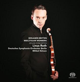 BEST CONCERTO RECORDING OF 2014: Benjamin Britten & Mieczysław Weinberg - VIOLIN CONCERTOS (Challenge Classics CC72627)