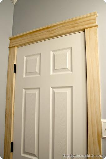 DIY craftsman door trim & DIY craftsman door trim from Thrifty Decor Chick Pezcame.Com