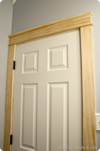 DIY craftsman door trim