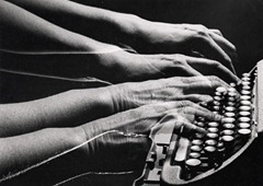 Peter Keetman - Typing - (Double Exposure) c 1958