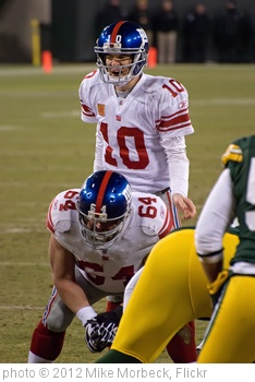 'Eli Manning (10), David Baas (64)' photo (c) 2012, Mike Morbeck - license: http://creativecommons.org/licenses/by-sa/2.0/