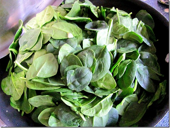 spinach and onions