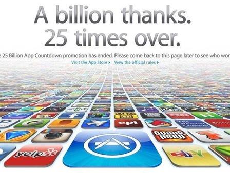 Apple llega a 25 billones de descargas