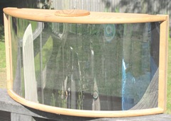 mirrored window bird feeder