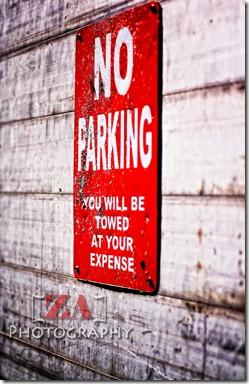 no parking ZA